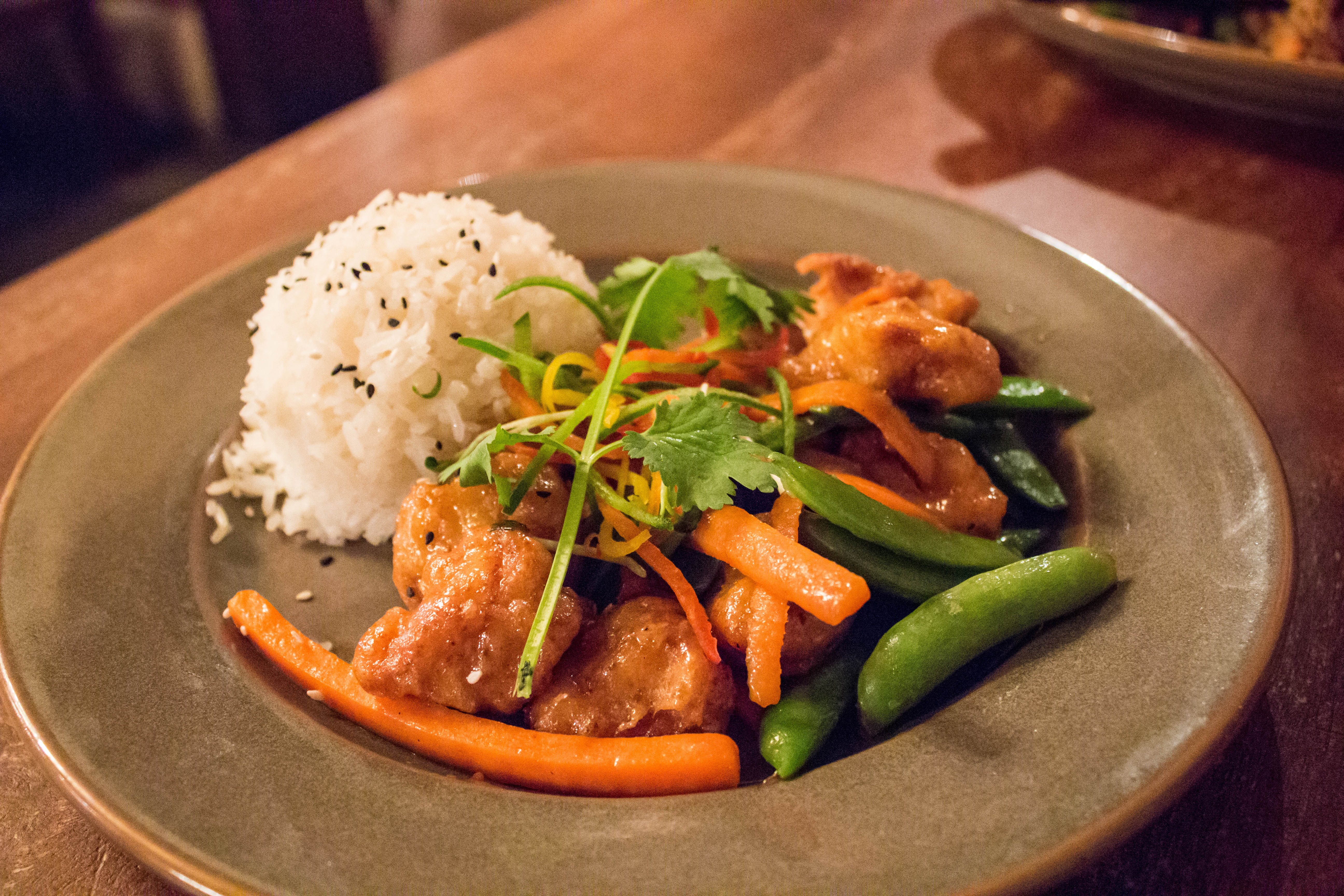 Sweet and Sour Chicken at Yak & Yeti