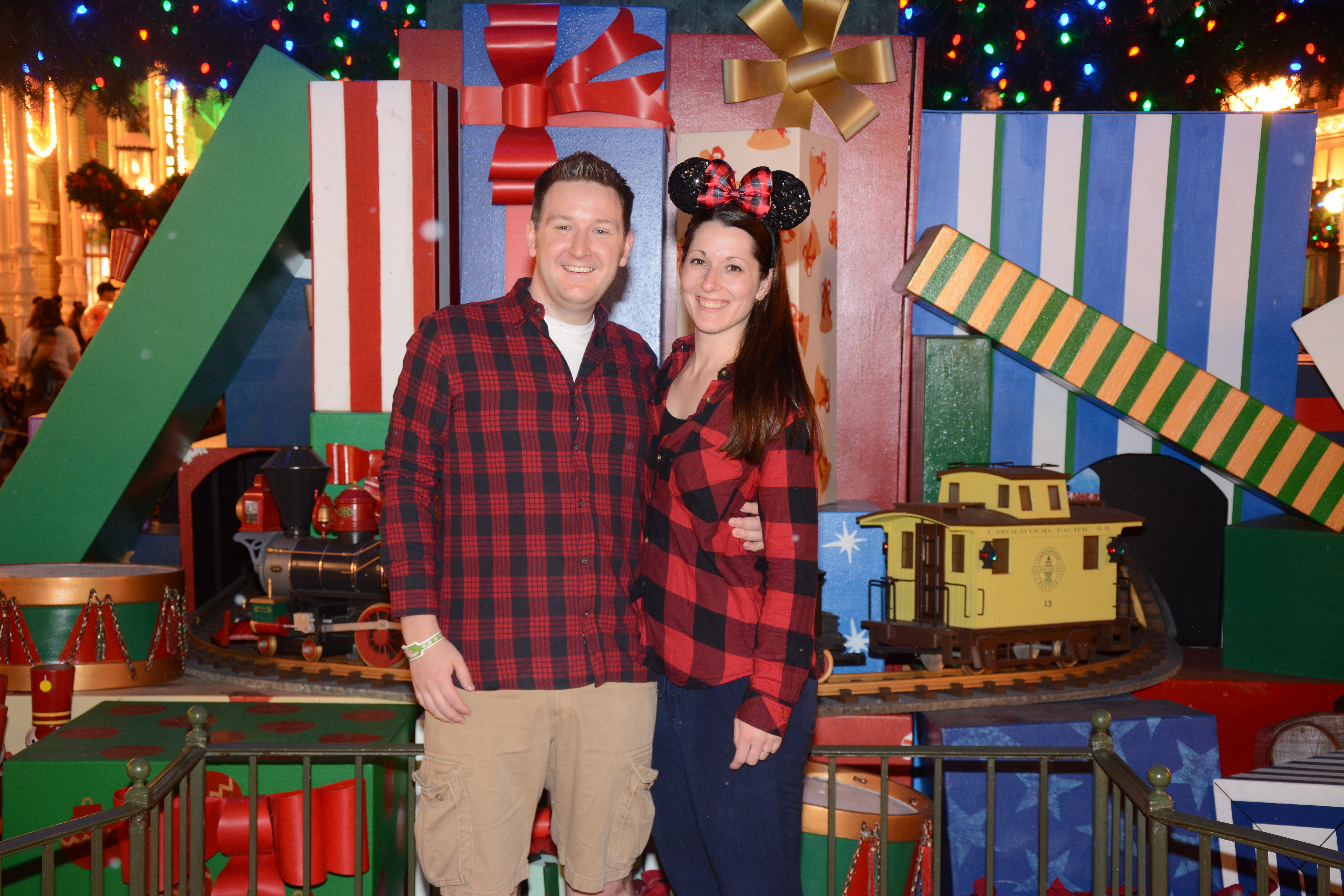 Ryan and Lauren Christmas at Magic Kingdom