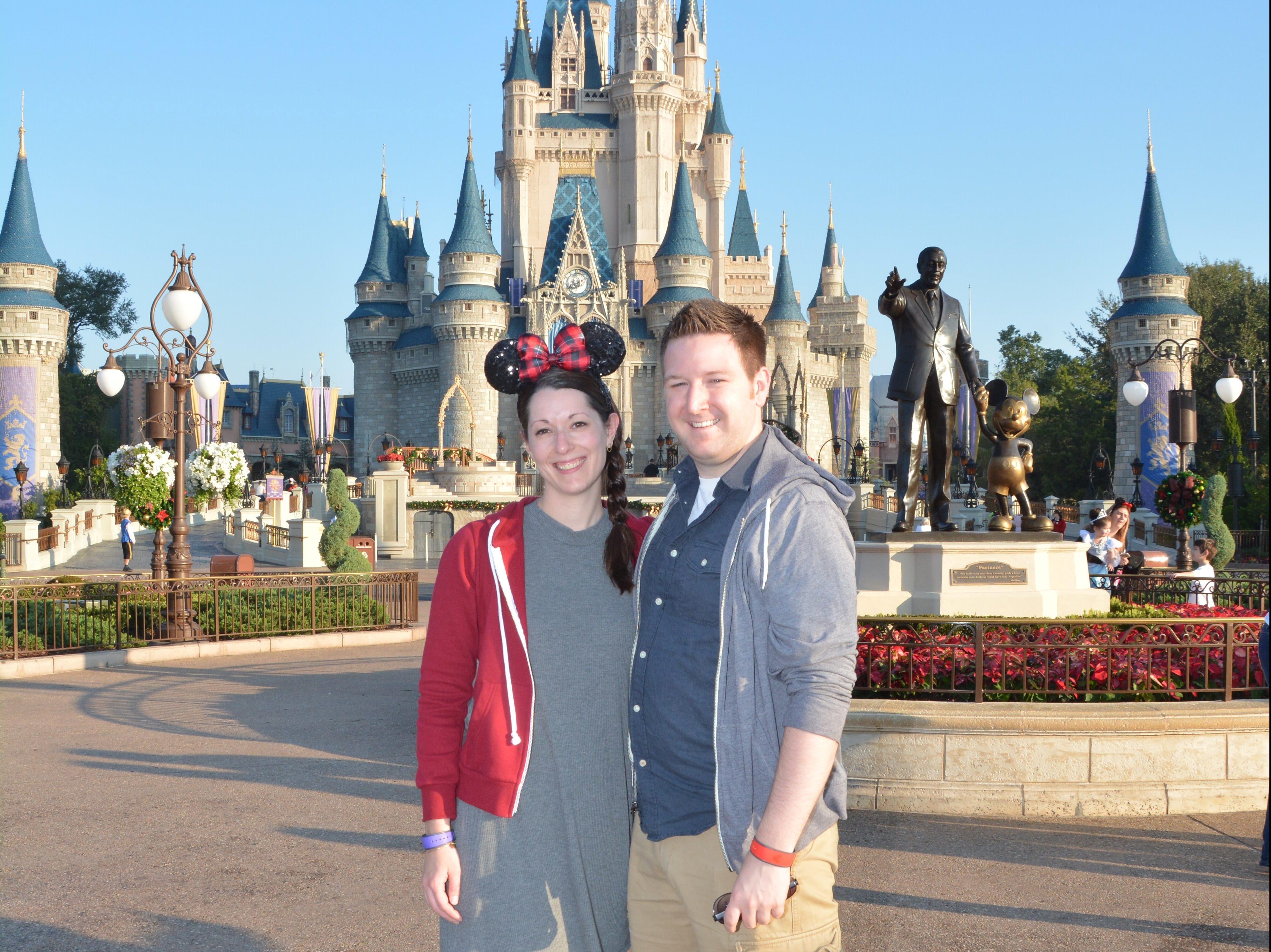 Ryan and Lauren at Cinderella Castle