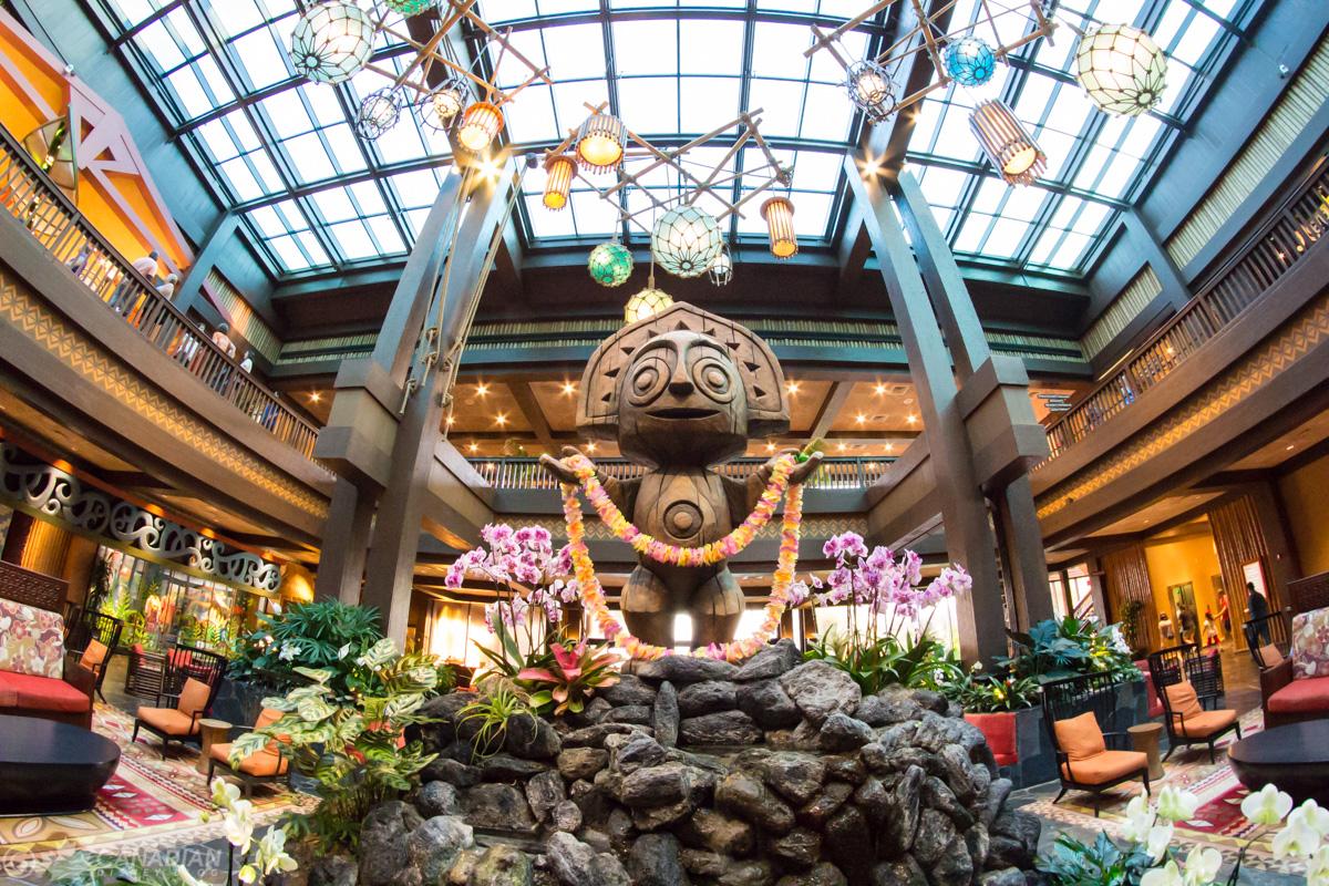 Polynesian Resort Lobby Statue