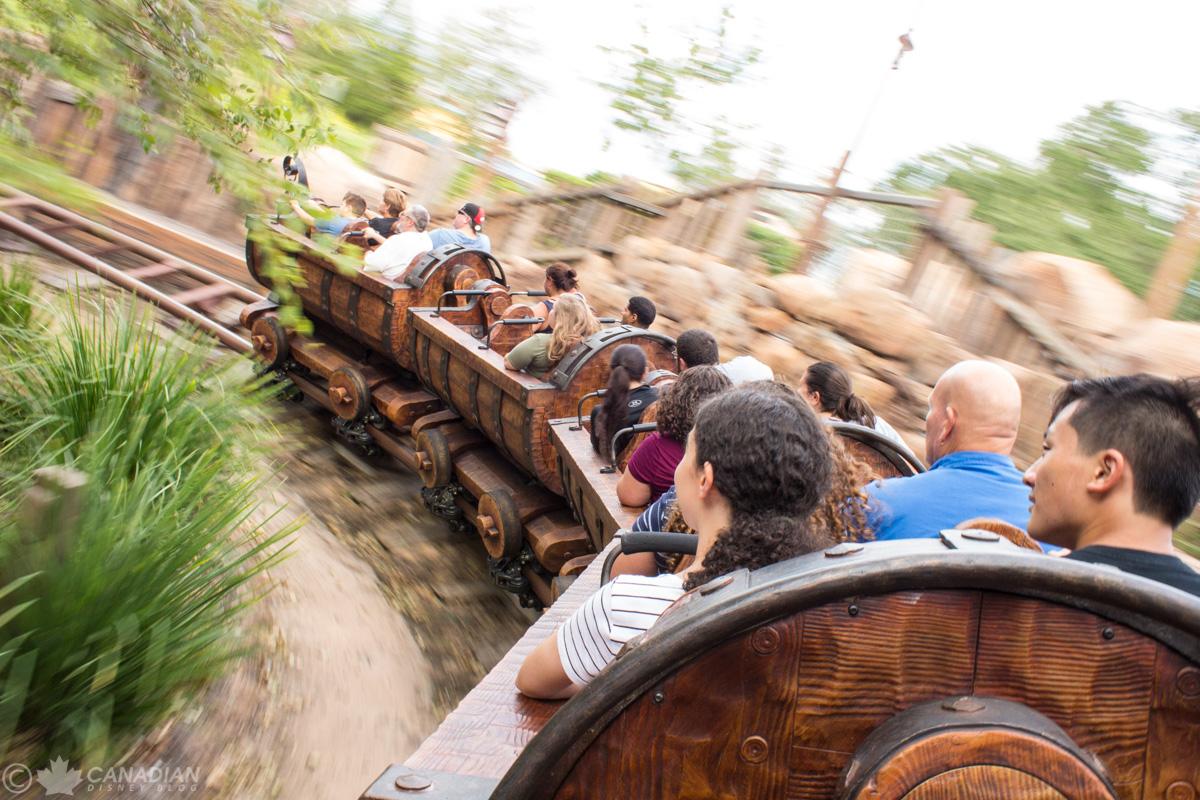 Seven Dwarfs Mine Train on-ride