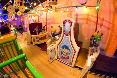 Toy Story Midway Mania Ride Vehicle