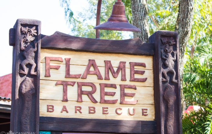 Flame Tree Barbecue Sign