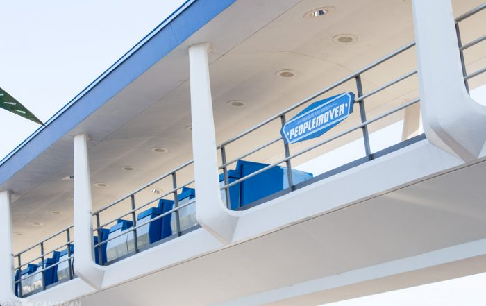 PeopleMover passing through Tomorrowland