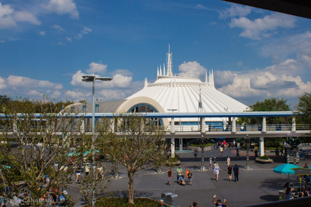 View of Space Mountain from the PeopleMover