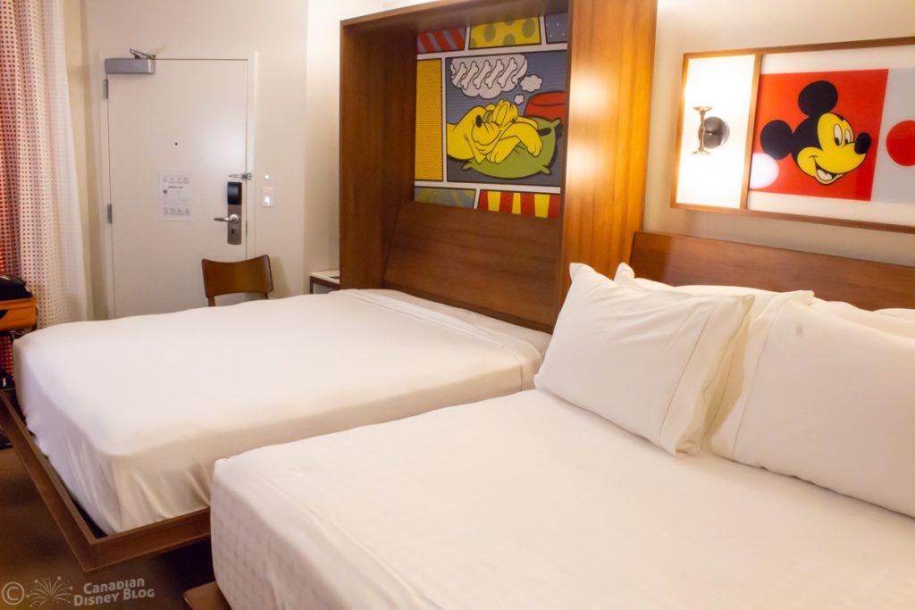 Murphy Bed Disney's Pop Century Resort Refurbished Room