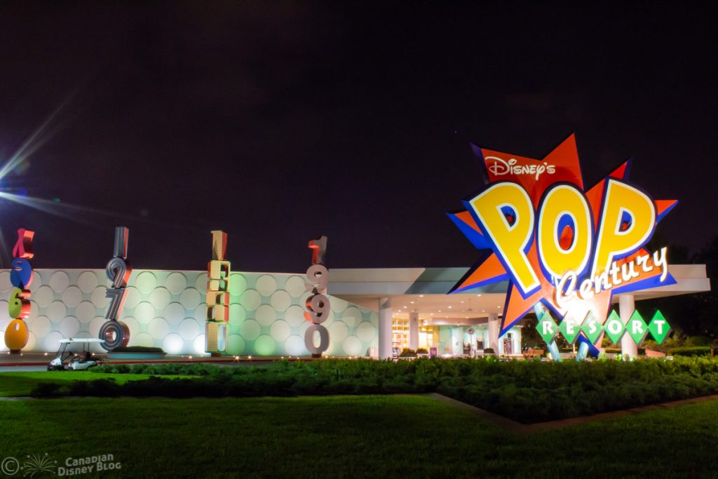 Pop Century Resort Entrance