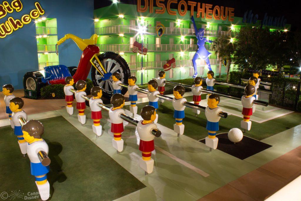 Giant Foosball Disney's Pop Century Resort