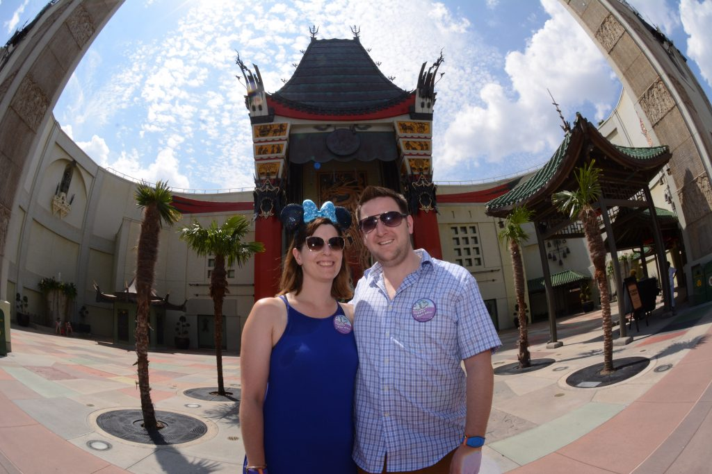 Lauren and Ryan in front of the Chinese Theater in Hollywood Studios