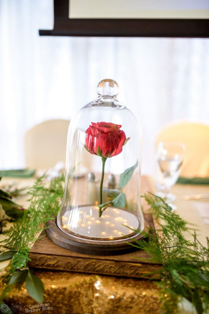 Beauty and the Beast Rose - Wedding Centrepiece