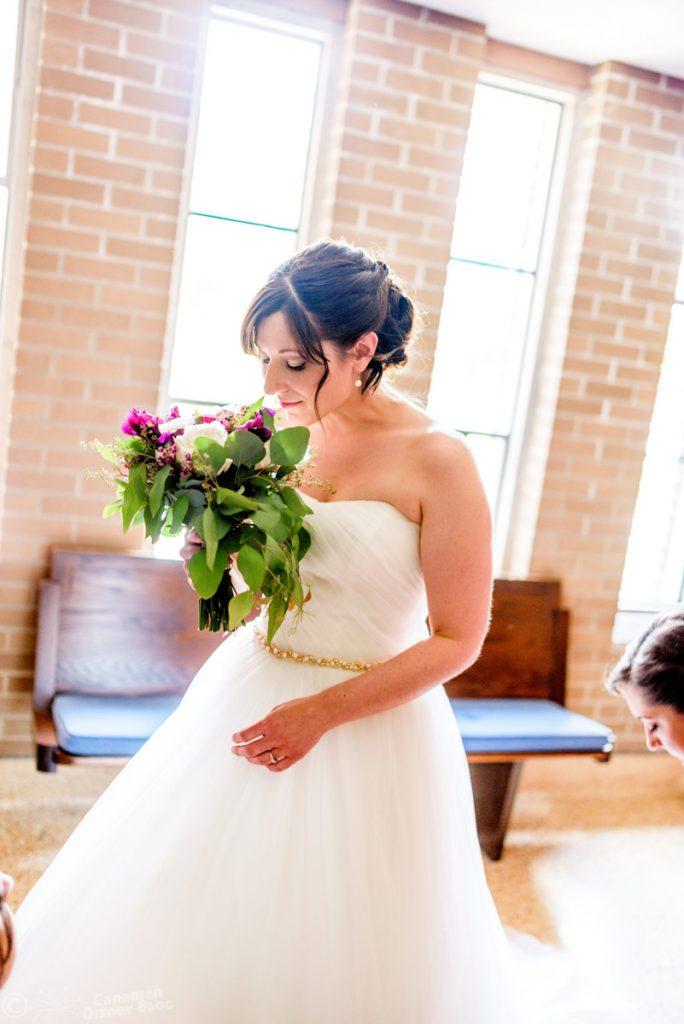 Lauren in her Wedding Dress