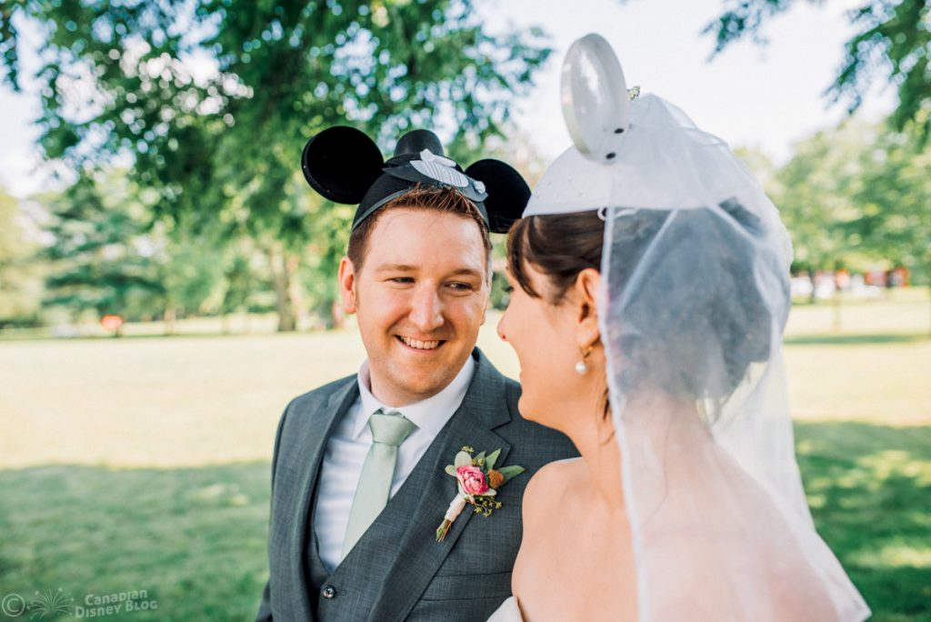 Ryan and Lauren's Wedding with Mickey and Minnie Ears
