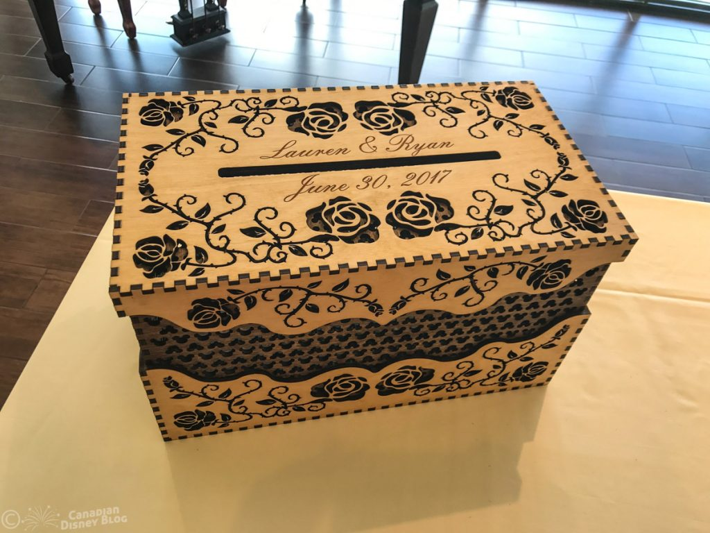 Ryan and Lauren's Wedding Card Box