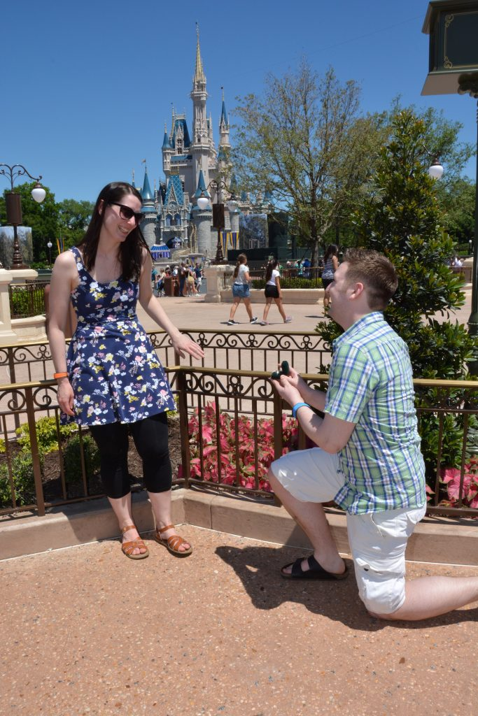 Ryan Proposes to Lauren in front of Cinderella Castle