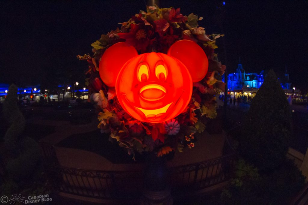Mickey Halloween Decoration in the Magic Kingdom