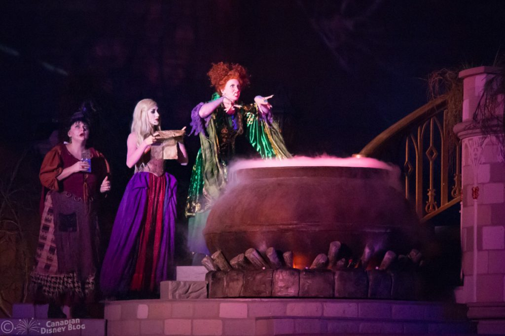 Sanderson Sisters during the Hocus Pocus Villain Spelltacular