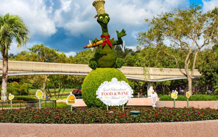 Epcot Food & Wine Festival - Figment Topiary