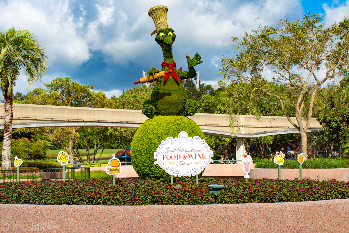 Epcot Food & Wine Festival - Figment Topiary