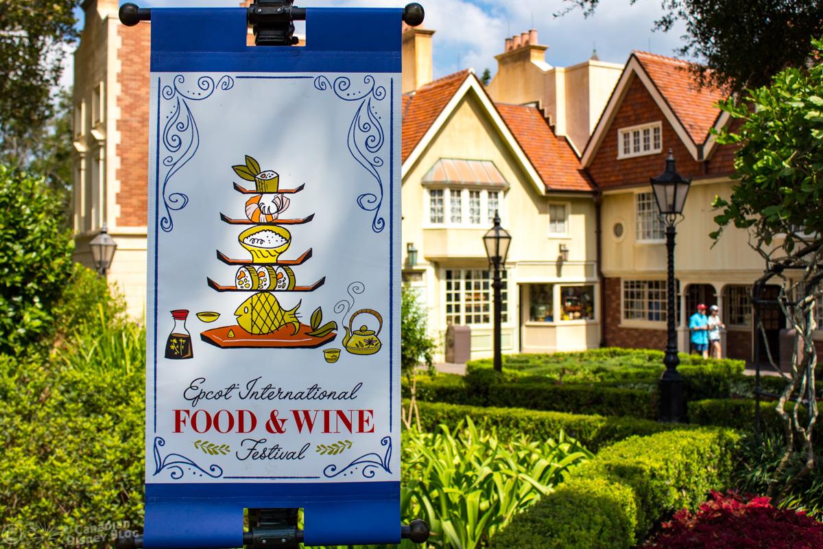 Epcot Food & Wine Festival Sign in UK Pavilion