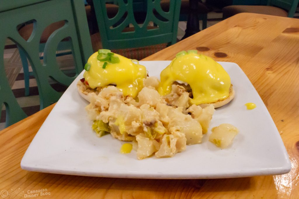 Crab Cake-Eggs Benedict at Olivia's Cafe - Disney's Old Key West Resort