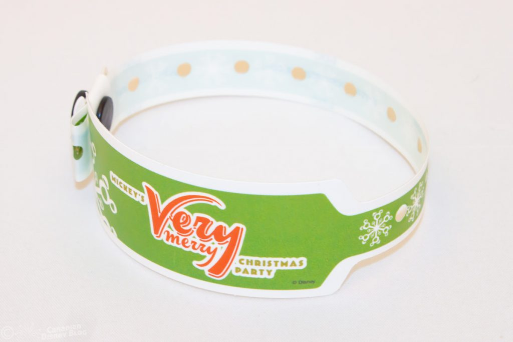 Mickey's Very Merry Christmas Party Wristband