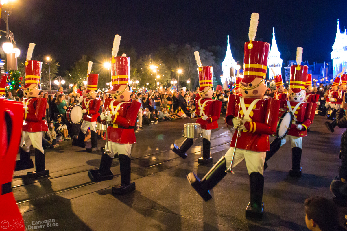 Toy Soldiers during Mickey's Once Upon a Christmastime Parade