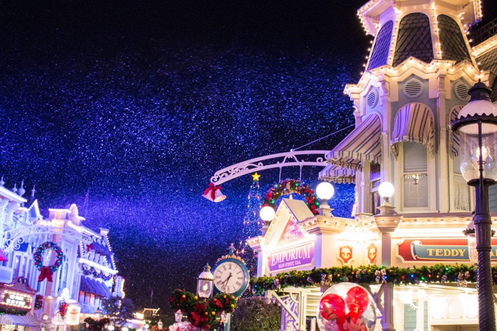 Snowing on Main Street USA