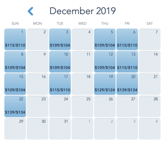 Mickey's Very Merry Christmas Party Dates - December 2019