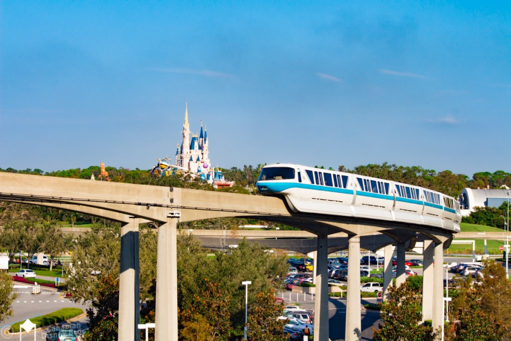 Monorail from Bay Lake Tower