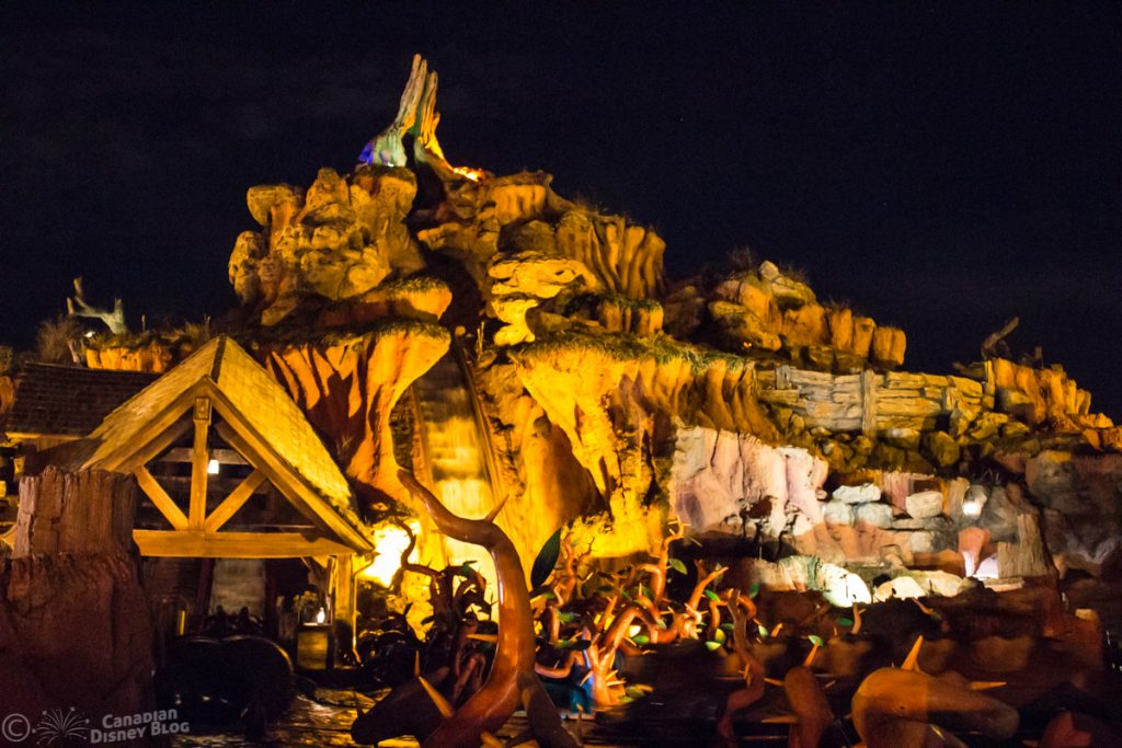 Splash Mountain at Night