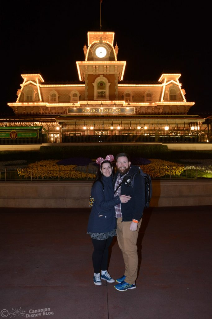 Ryan and Lauren at the Magic Kingdom After Hours