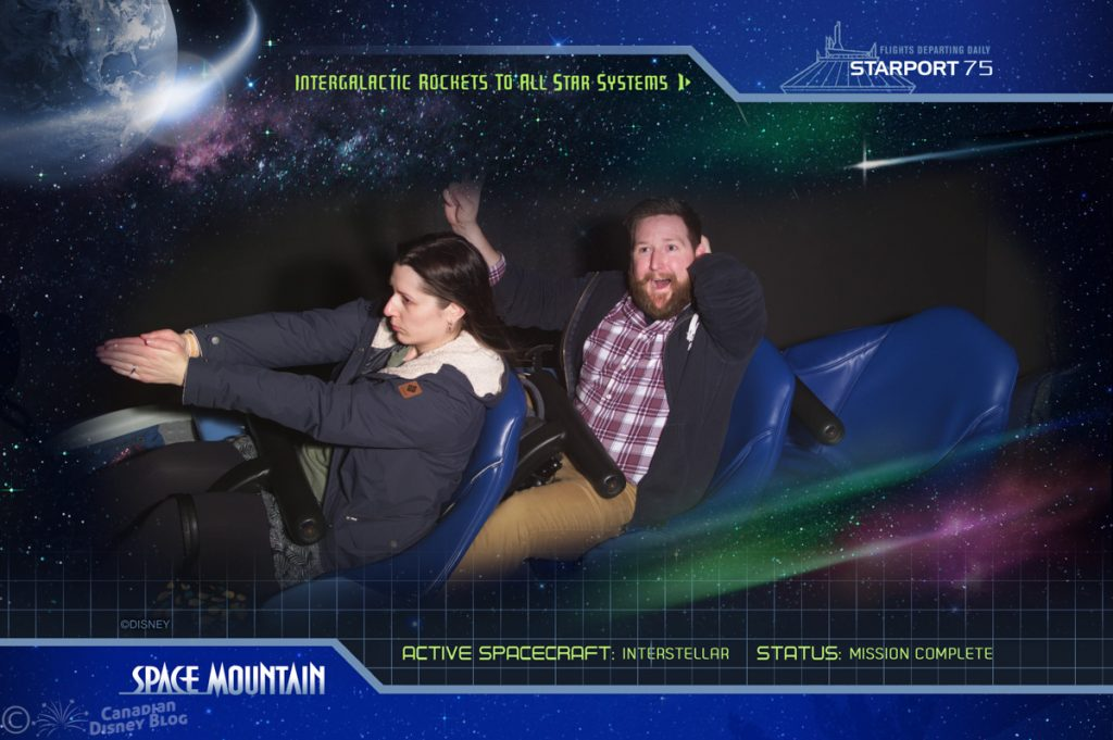 Ryan and Lauren on Space Mountain