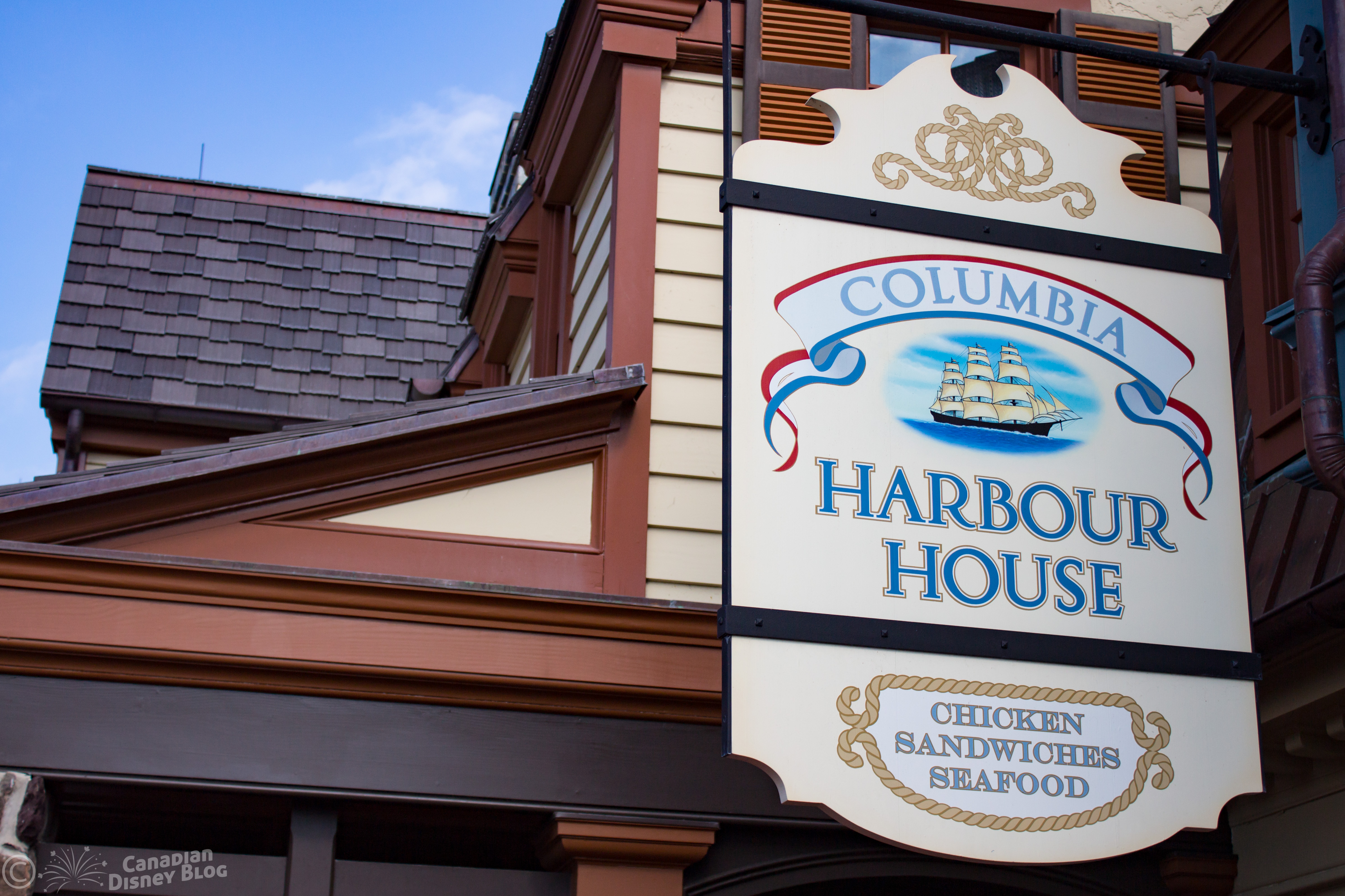 Columbia Harbour House Outside Sign