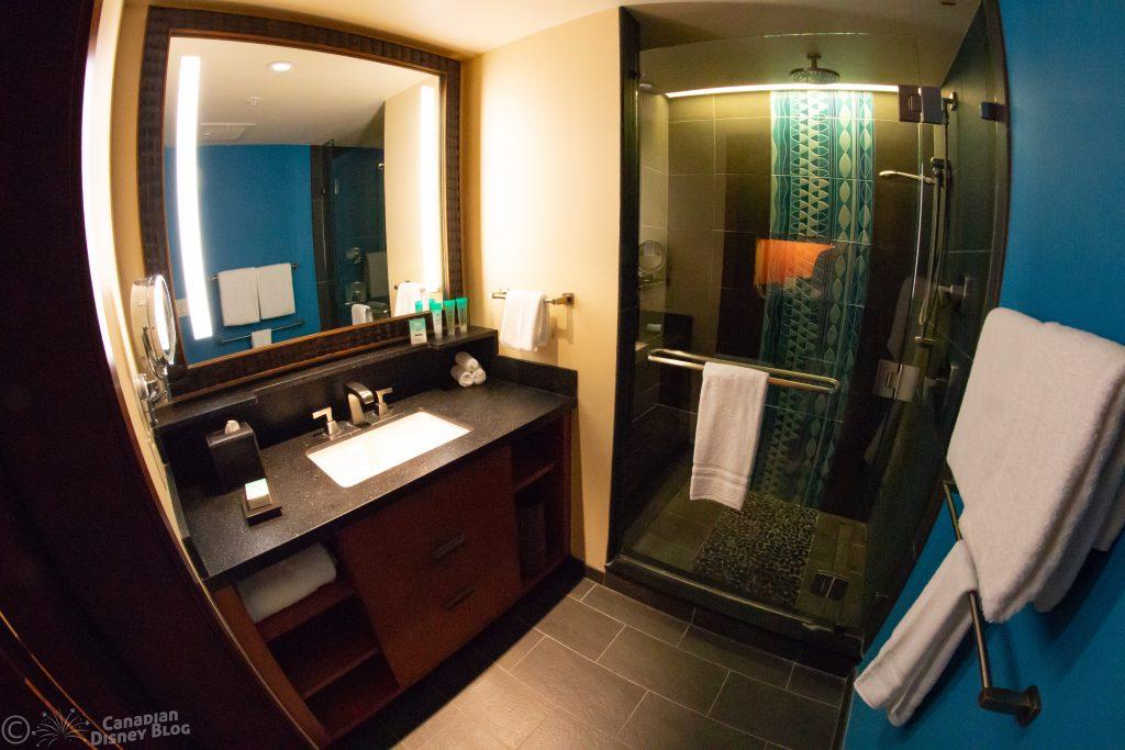 Polynesian Resort Deluxe Studio Bathroom