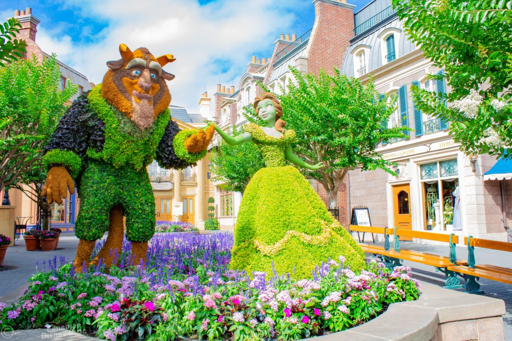 Beauty & The Beast Topiary Epcot Flower & Garden Festival
