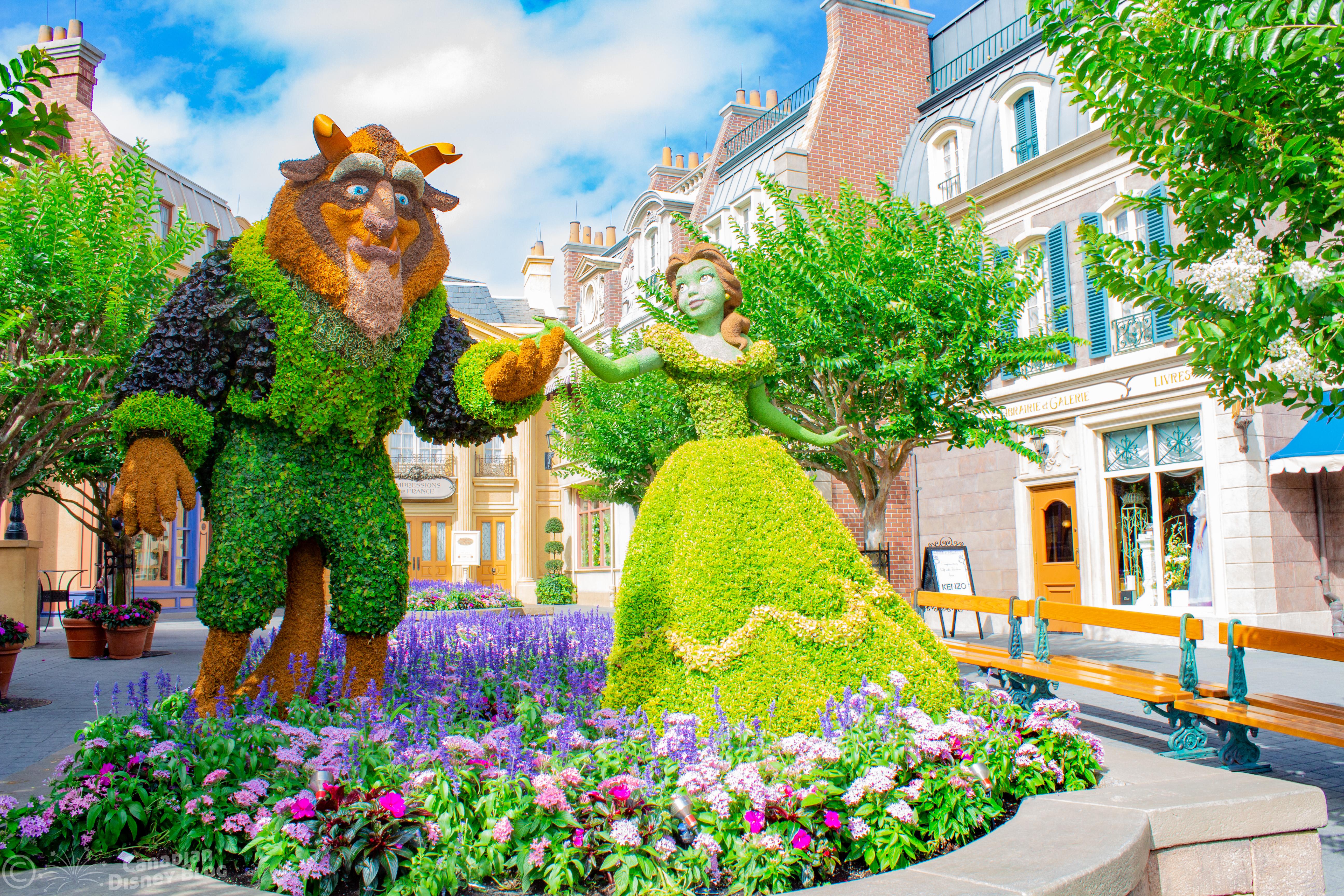 Beauty & The Beast Topiary Epcot Flower & Garden Festival