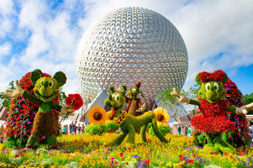 Front Entrance Topiary Epcot Flower & Garden Festival