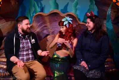 Ryan and Lauren Meet Ariel at her Grotto in Magic Kingdom