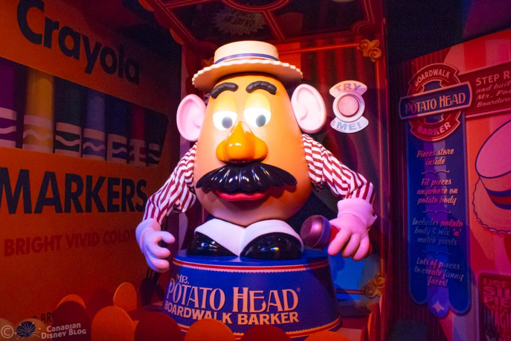 Mr. Potato Head in the Toy Story Mania Queue