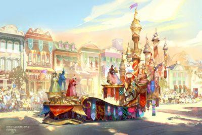 Magic Happens Parade - Sleeping Beauty Float