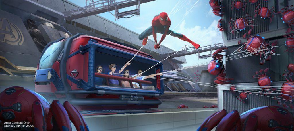 Spider Man Attraction at Disney