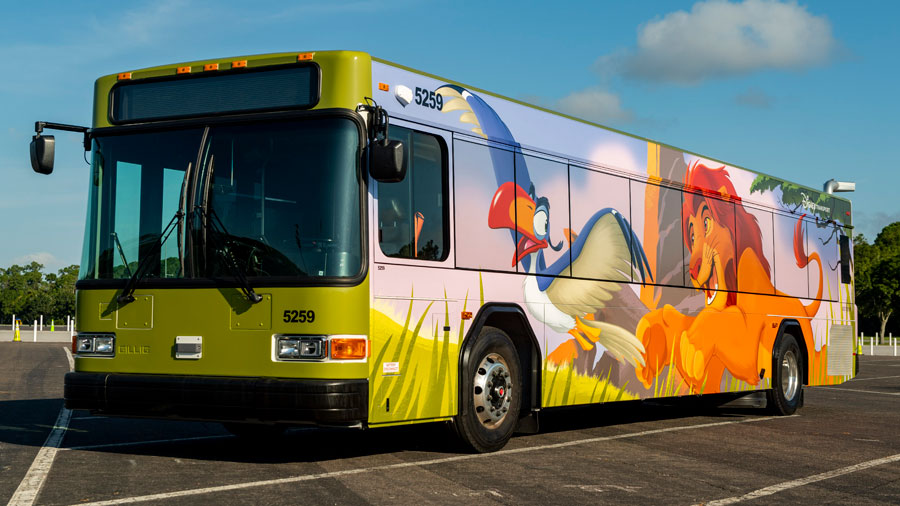 Disney Transportation Bus Wrap - Lion King