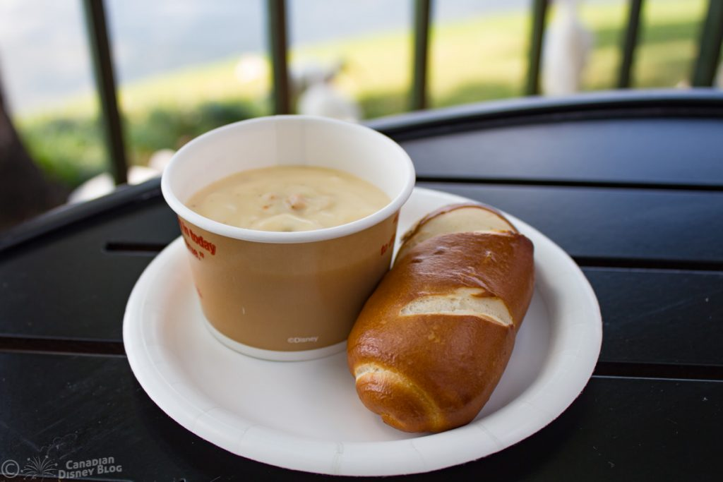 Cheddar Soup from Canada Booth at Epcot Food & Wine Festival