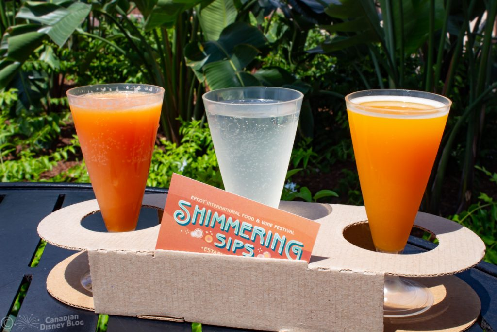 Mimosa Flight from Shimmering Sips at Epcot Food & Wine Festival