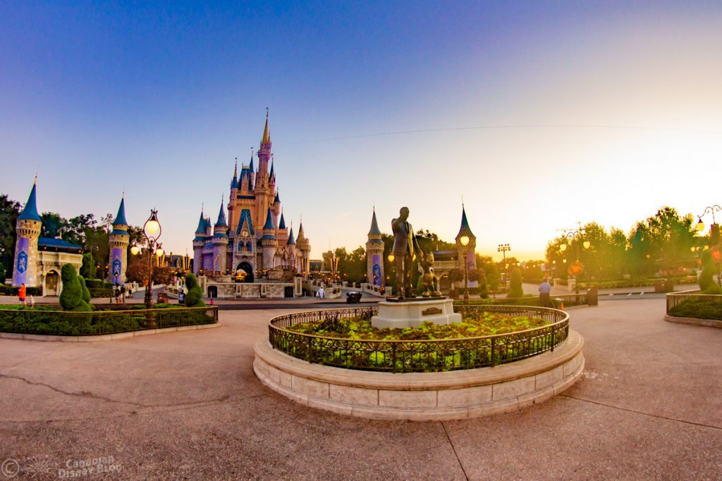 Early Morning at Cinderella Castle in the Magic Kingdom