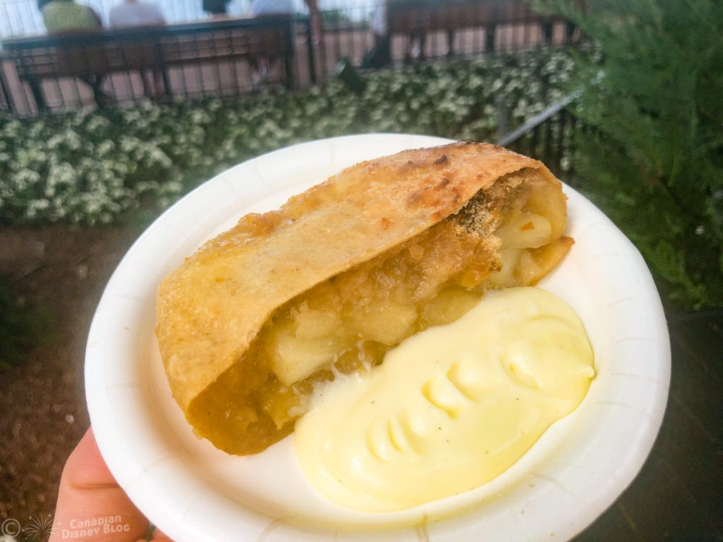 Apple Strudel with Vanilla Sauce from Germany at Epcot Food & Wine Festival Booth