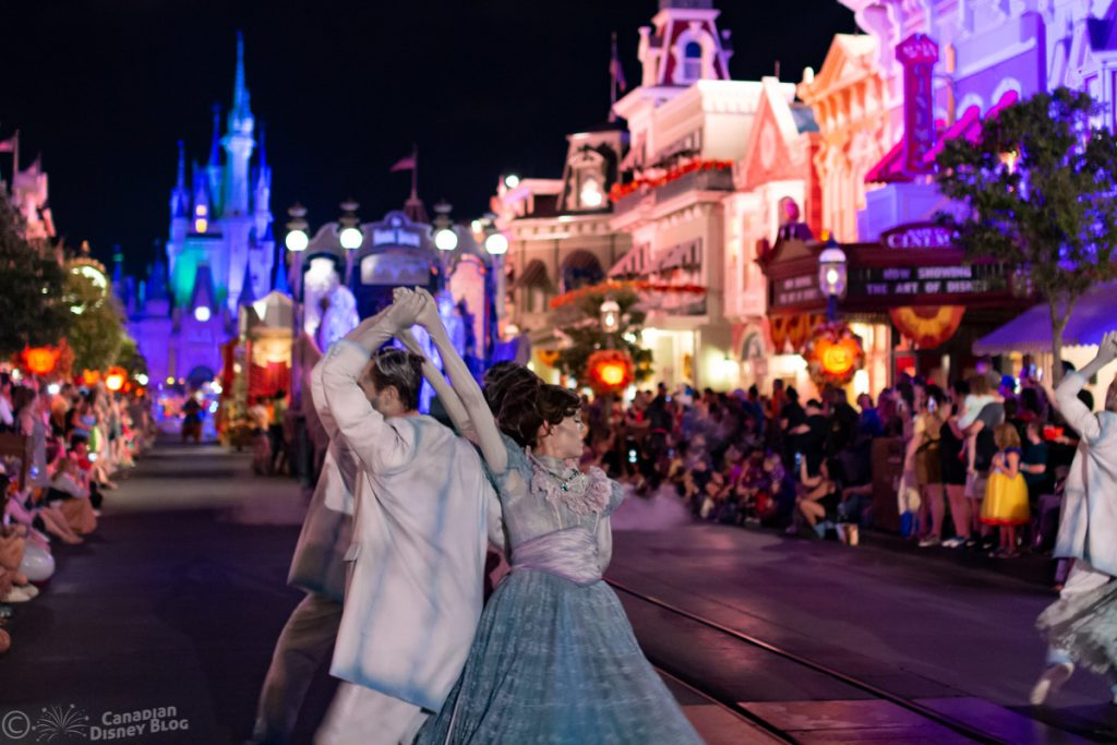 Haunted Mansion Ballroom Dancers during Mickey's Boo-To-You Parade