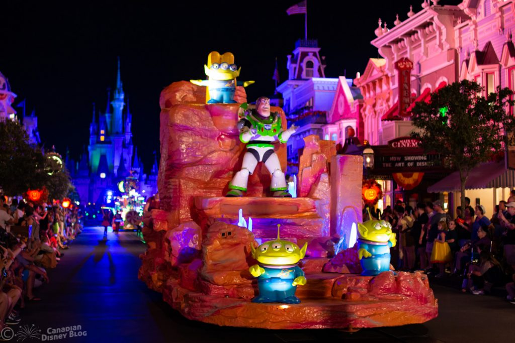 Buzz Lightyear Float during Mickey's Boo-To-You Parade