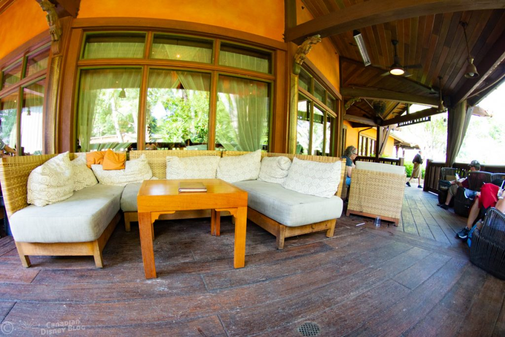 Outdoor Seating at the Nomad Lounge