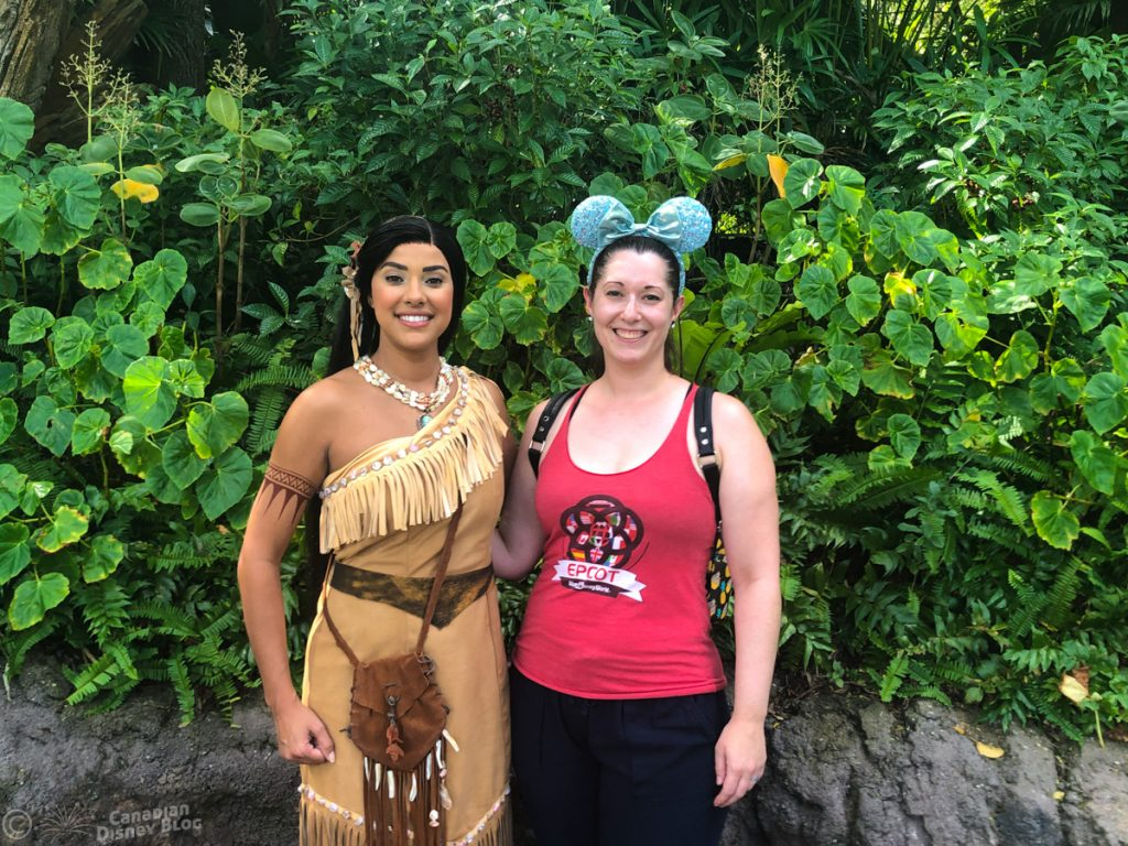 Lauren Meets Pocahontas at Animal Kingdom